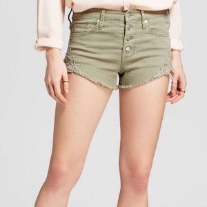 3 for $15🍀Massimo Olive Grn High Rise Shorts🍀